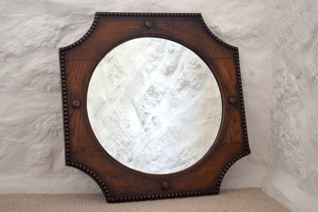 1920s Oak Framed Mirror