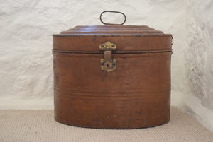 Extra Large Antique Victorian Metal Hat Box