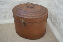 Load image into Gallery viewer, Extra Large Antique Victorian Metal Hat Box