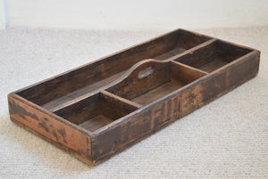 Victorian Pine Workshop Storage Tray
