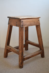 Pine Industrial Workshop Stool
