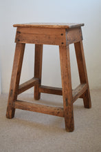 Load image into Gallery viewer, Pine Industrial Workshop Stool