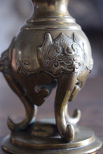 Load image into Gallery viewer, Meiji Period Brass Japanese Pricket Altar Stick