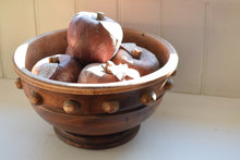 Load image into Gallery viewer, antique fruit bowl with faux apples