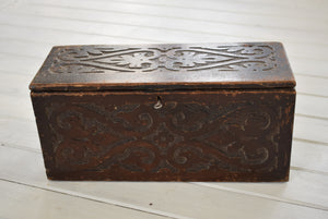 Antique Miniature Oak Coffer