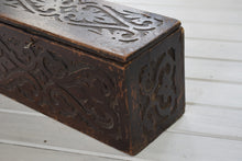 Load image into Gallery viewer, Antique Miniature Oak Coffer With Carvings
