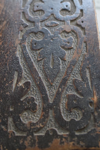 Antique Miniature Oak Coffer carved decoration
