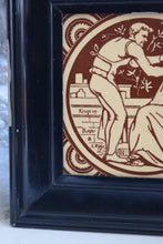 Load image into Gallery viewer, Antique Minton Tile In Frame