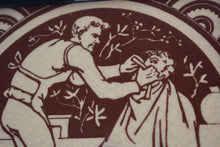 Load image into Gallery viewer, Antique Minton Tile The Barber