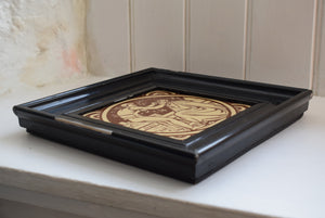 Antique Framed Minton Tile