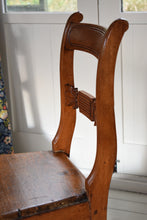 Load image into Gallery viewer, Antique pair of pitch pine chairs