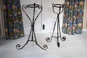 Antique Wrought Iron Conservatory Plant Stands