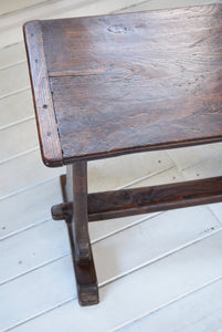 Antique Elm Trestle Stool c1820