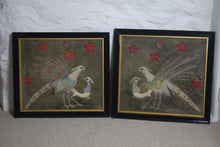 Load image into Gallery viewer, Silkwork Embroidery Birds Framed