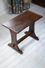 Load image into Gallery viewer, Antique Elm Trestle Stool c1820
