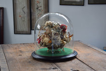 Load image into Gallery viewer, Victorian Woolwork Flower Arrangement Glass Dome