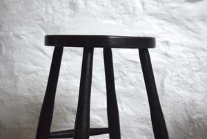 Industrial Victorian Ebonised Oak Tall Stools