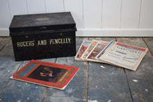 Load image into Gallery viewer, Antique Deed Box with Six copies of the Illustrated London News