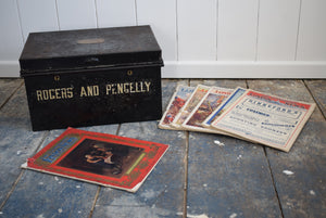 Antique Deed Box with Six copies of the Illustrated London News