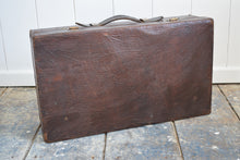 Load image into Gallery viewer, Antique Leather Suitcase