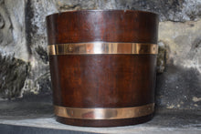 Load image into Gallery viewer, Oak Copper Banded Planter