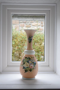 Antique Opaline Glass Vase in Pink