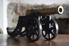 Load image into Gallery viewer, Model Brass Cannon on Cast Iron Carriage