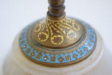 Load image into Gallery viewer, French Champleve Enamel and Brass Candlesticks
