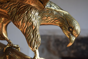 Large Brass Eagle on Perch