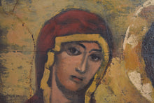 Load image into Gallery viewer,  Oil on Panel Byzantine Style Russian Orthodox Deesis