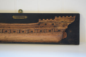 Antique Half Hull Folk Art Ship Builders Model