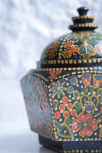 Load image into Gallery viewer, Antique Hand Painted Kashmiri Lidded Pot