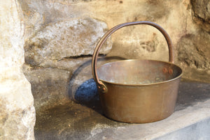 Antique Bronze Bucket with Cast Iron Handle