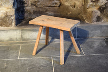 Load image into Gallery viewer, Antique Elm Primitive Country Stool