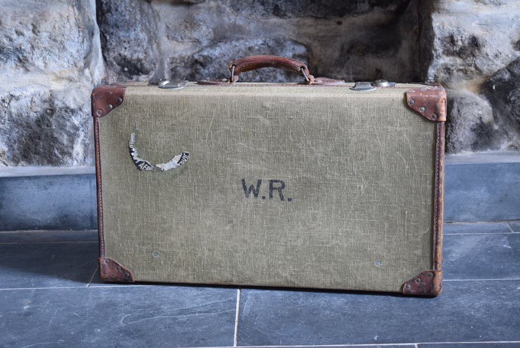 Vintage Military WW2 Demob Suitcase