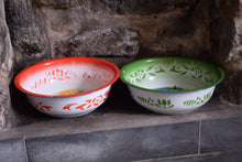 Load image into Gallery viewer, Vintage Dutch Enamel Bargeware Bowls