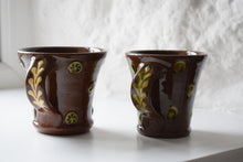 Load image into Gallery viewer, Glazed Terracotta Studio Pottery Coffee Mugs