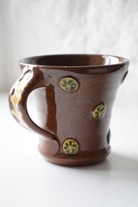 Glazed Terracotta Studio Pottery Coffee Mug