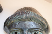 Load image into Gallery viewer, Vintage Greek Painted Terracotta Tragedy Masks