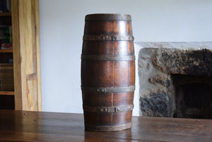 Antique Oak Coopered Barrel Keg Cask