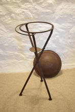 Load image into Gallery viewer, Antique Folding Metal Campaign Wash Stand and Bowl