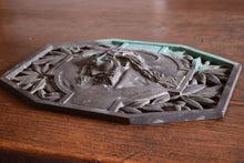 Load image into Gallery viewer, Bronze Plaque Sculpture of Christ Signed A.Dubois