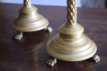 Load image into Gallery viewer, Antique Brass Ecclesiastical Church Altar Candlesticks