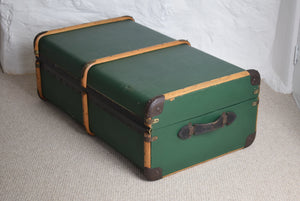 Green Vintage Steamer trunk