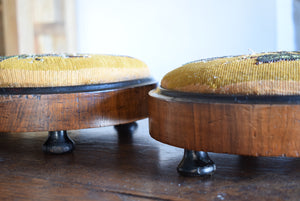 Victorian Walnut and Beadwork Footstools