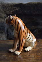 Load image into Gallery viewer, Large Art Deco Style Tiger Vintage Ceramic Statue