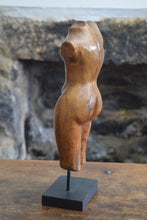 Load image into Gallery viewer, Wooden Female Torso Sculpture