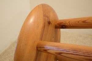 Vintage Pine Stool by Robin Nance St Ives