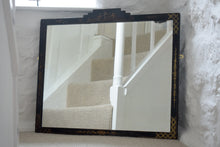 Load image into Gallery viewer, Black Lacquered Chinoiserie Mirror