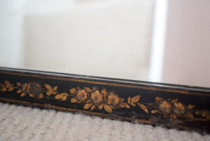 Black Lacquered Chinoiserie Mirror